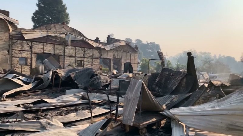 Firefighters continue to attack a massive wildfire burning in northern California wine country ahead of another major wind event. The blaze has grown to at least 103 square miles, destroying 96 buildings and threatening 80,000 more structures. (Oct. 28)