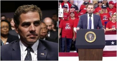 Trump warns media will further defend Hunter Biden