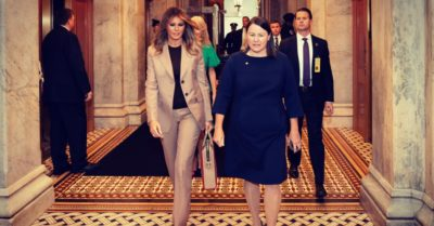 Melania Trump makes first solo trip to Capitol Hill to discuss opioid policy