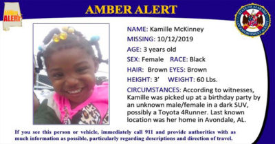 The lastest reward for abducted Alabama toddler climbs to $25,000