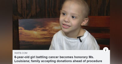 Young girl battling cancer becomes honorary Miss Louisiana
