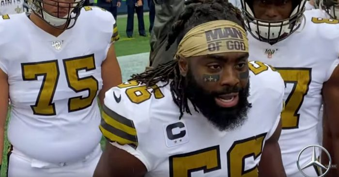 The NFL rescinded the fine imposed on a Christian player for using a headband with the phrase 'Man of God'