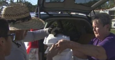 Harvest Meat Market's owners hand out over 500 hot meals to Kathleen, Florida families affected by tornado
