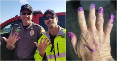 Utah firefighters calm girl's fears after car crash by offering her to paint their fingernails