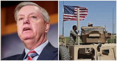 Lindsey Graham changes  his stance on removing US troops from Syria