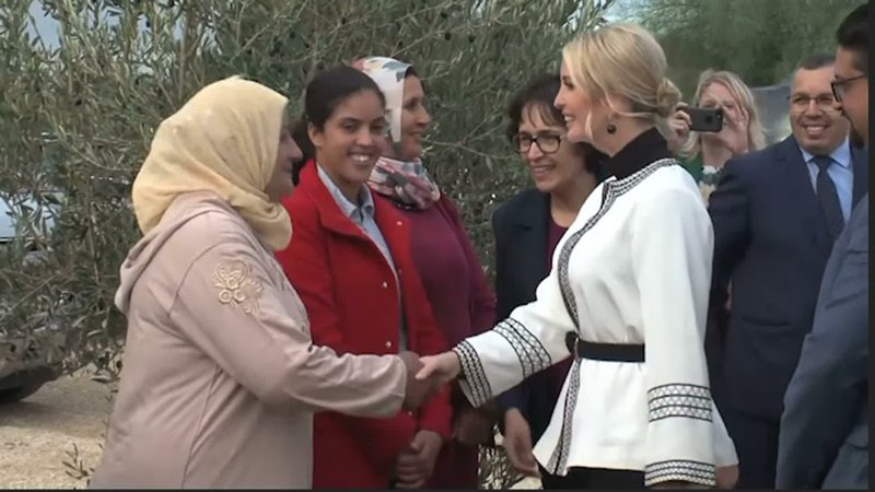 In a visit to Morocco, Ivanka Trump met with female landowners and delivered the message that governments in developing countries should make it easier for women to succeed as entrepreneurs. (Nov. 7)