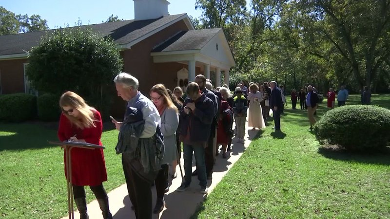 Former President Jimmy Carter can still draw a crowd, and he does each time he teaches Sunday school in his hometown of Plains, Georgia. (Nov. 11)