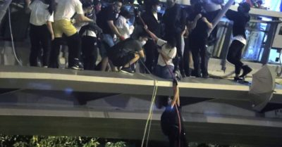 Campus under siege as Hong Kong police battle pro-democracy protesters