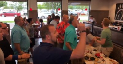 Church worship a capella group flash mobs fills Chick-fil-A with gospel music
