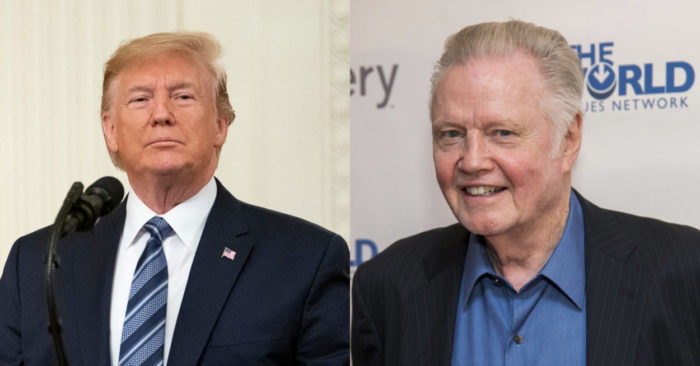 U.S. President Donald Trump and actor Jon Voight. (Official White House Photo by Tia Dufour - Charles Sykes/Invision/AP, File)