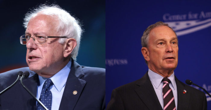 Bloomberg targets Sanders in his campaign bid to become president, and it's costing millions