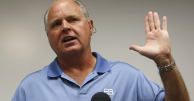 Host Rush Limbaugh warns of Fox News's leftist tendency