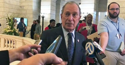 Former NYC Mayor Michael Bloomberg stands for election in Arkansas