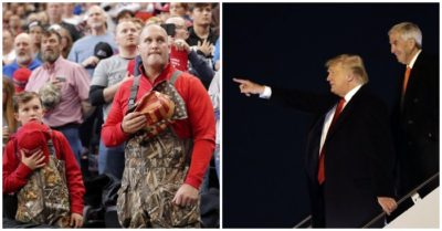 President Trump returns to Louisiana, thousands of supporters line up for the rally