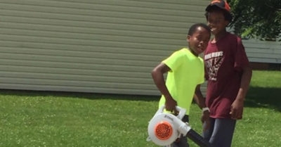 White neighbor calls police on black tiny boy for mowing their wrong lawn