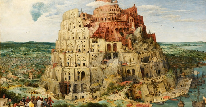 The tower of Babel and humans' delusion of touching paradise