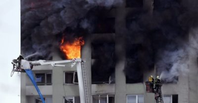 Gas explosion in Slovakia tower block kills 5, injures 40