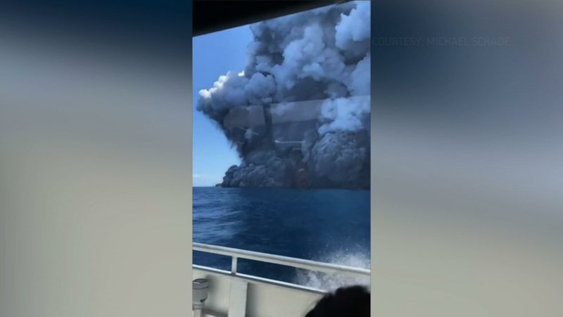 A New Zealand volcanic island spewed a massive eruption while dozens of tourists were exploring it on Monday. At least one death is confirmed. The site was still too dangerous hours later for police and rescuers to search for the missing. (Dec. 9)