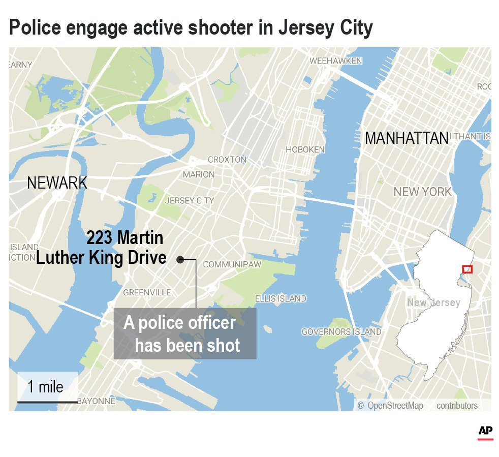 A police officer has been shot, according to New Jersey State Police.;