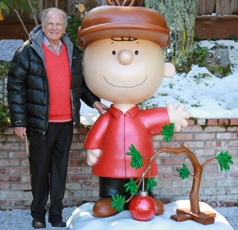 """This 2015 photo provided by Jason Mendelson shows Lee Mendelson in Hillsborough, Calif.  Lee Mendelson, the producer who changed the face of the holidays when he brought """"A Charlie Brown Christmas"""" to television in 1965 and wrote the lyrics to its signature song, """"Christmas Time Is Here,"""" died on Christmas day, Wednesday, Dec. 25, 2019. (Jason Mendelson via AP)"""