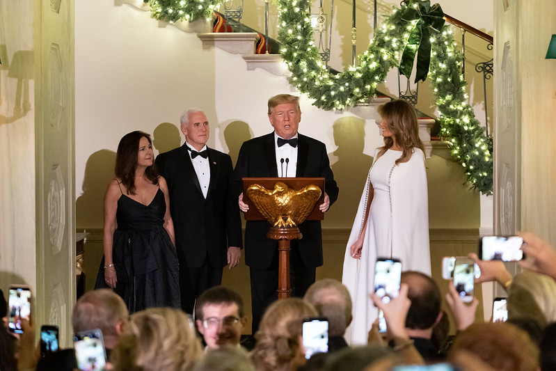 Melania Trump Amazes In White Dress At Congressional Ball With President Trump The Bl