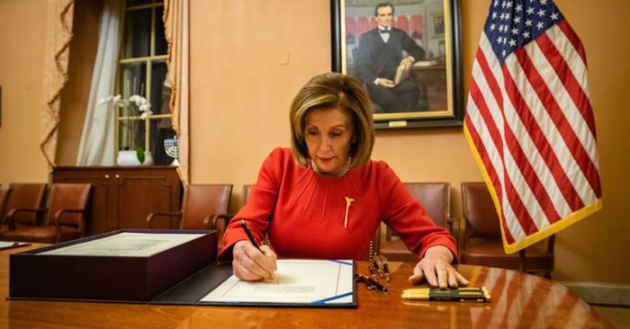 What did Nancy Pelosi do on Christmas?