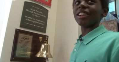 'I just beat it' Georgia boy rings bell to celebrate beating cancer