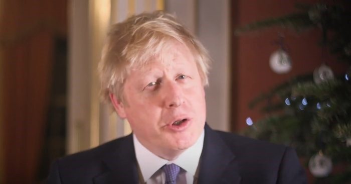 In a message highlighting the value of charity and family at Christmas, British Prime Minister Boris Johnson reminded all those Christians who are persecuted around the world and defended their right to express their faith / Image: Screenshot: YouTube - The Telegraph