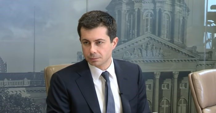 In an interview on Dec. 24, Democratic candidate for president in 2020, Pete Buttigieg, said that illegal drug possession should not be a crime punishable by jail/ Image: Screenshot - YouTube -DM Register