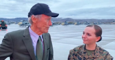 Clint Eastwood visits Marine at Camp Pendleton, reveals he has always been a fan