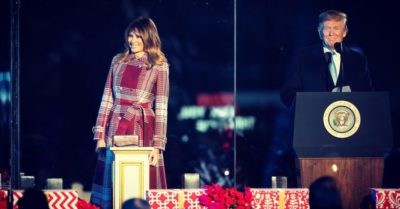 President Trump and First Lady grace annual tree lighting event