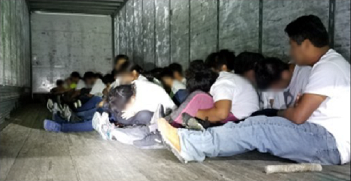 73 illegal immigrants tagged as cattle discovered in a truck on the U.S.-Mexico border