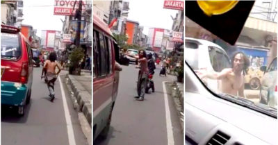 Homeless man with mental illness helps ambulance to pass through heavy traffic by asking everyone to give way
