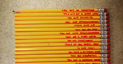 What this mom did with her child's school pencils melts a teacher's heart and goes viral