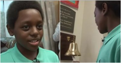 11-year-old boy in Macon, Georgia rings cancer-free bell just in time for Christmas