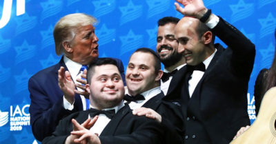 Isarel's disabled ban performs 'God Bless America,' wows President Trump at Israeli-American Council event