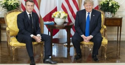 Why did a question from Donald Trump make the French president so nervous?