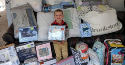 Boy, 5, asks for bedding for his birthday   instead of gifts spending it on himself to donate it to children in need
