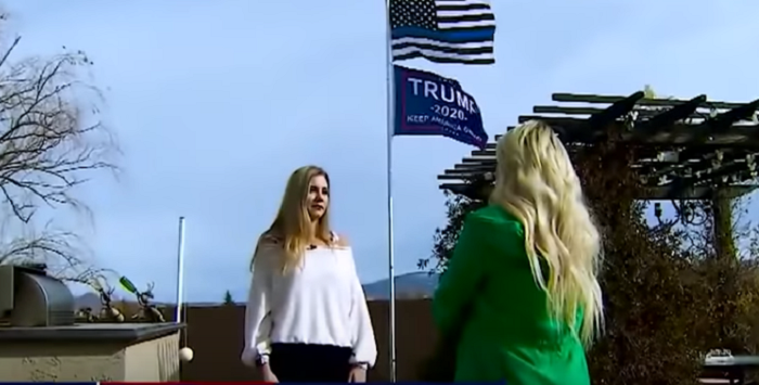 Arizona woman threatened with fine if she doesn't remove a pro-Trump flag from her yard