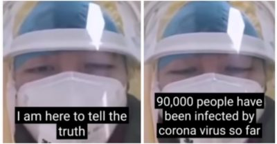 China's government faces criticism for censoring the number infected: Nurse treating coronavirus sufferers alleges China has 90,000 sick