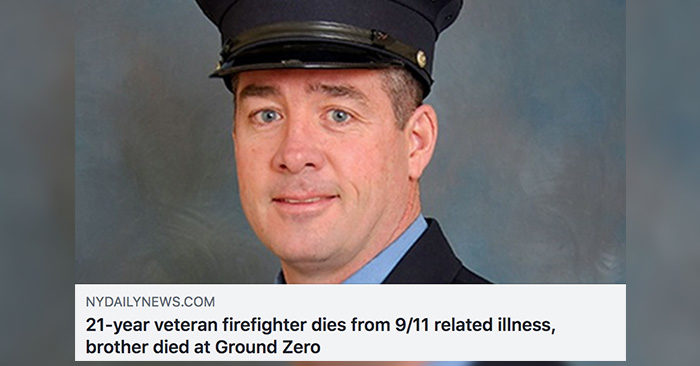 21-year FDNY veteran firefighter dies from 9/11 related illness