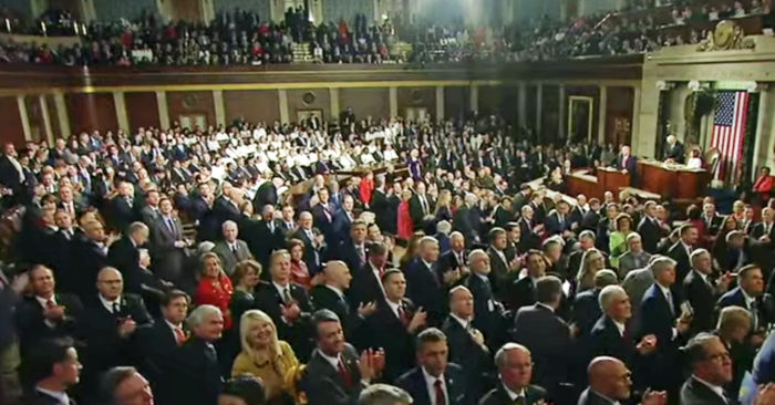 Democrats not clapping
