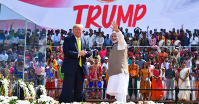 President Trump and First Lady Melania visit Taj Mahal and applauded at Indian PM Modi's rally