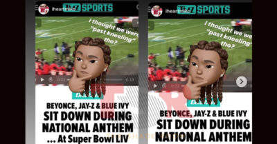 Colin Kaepernick references comment by Jay-Z after the rapper and wife Beyoncé sat down for Super Bowl national anthem