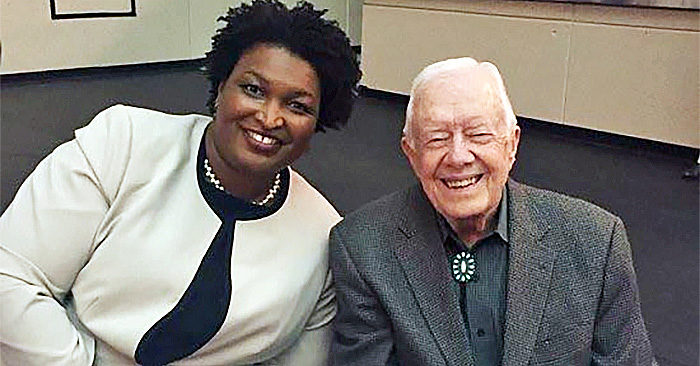 Stacey Abrams and Jimmy Carter