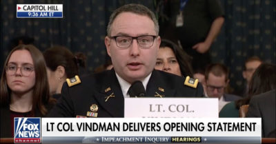 Lt. Col Alexander Vindman fired, escorted from White House