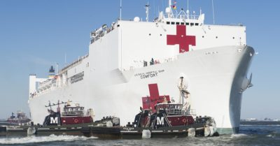 President Trump will see off USNS Comfort, to 'kiss it goodbye' as it heads to New York