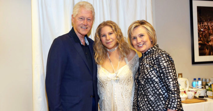 Barbra Streisand with Bill and Hillary Clinton