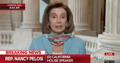 Pelosi claims next CCP Virus stimulus bill will 'enable the American people to vote by mail'