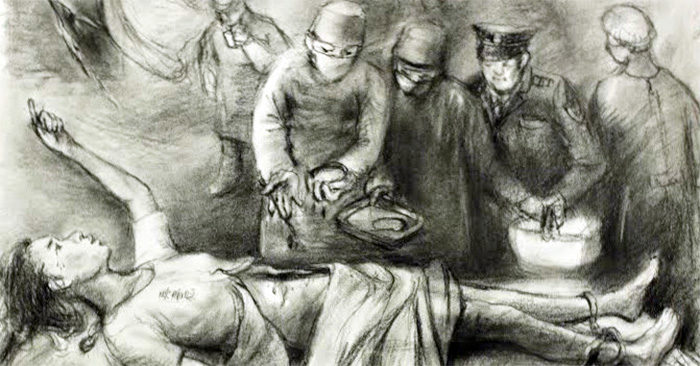Artist impression of the CCP's organ harvesting process. (Photo aafoh.org)